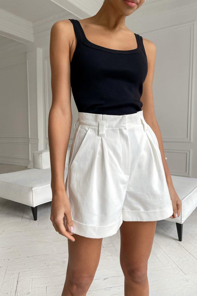 Белые шорты из коттона - THE LACE