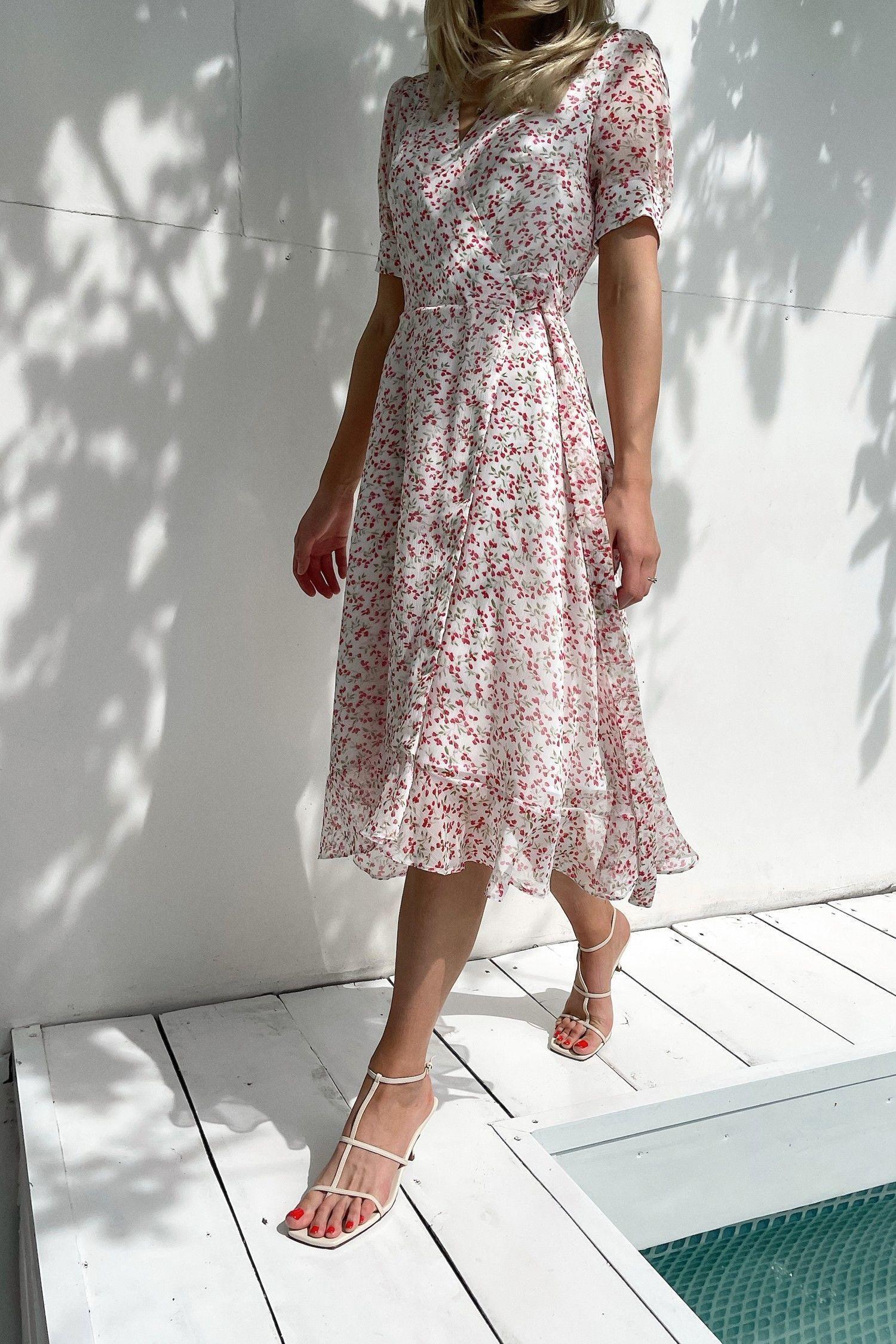 Платье миди Salvia flowers - THE LACE