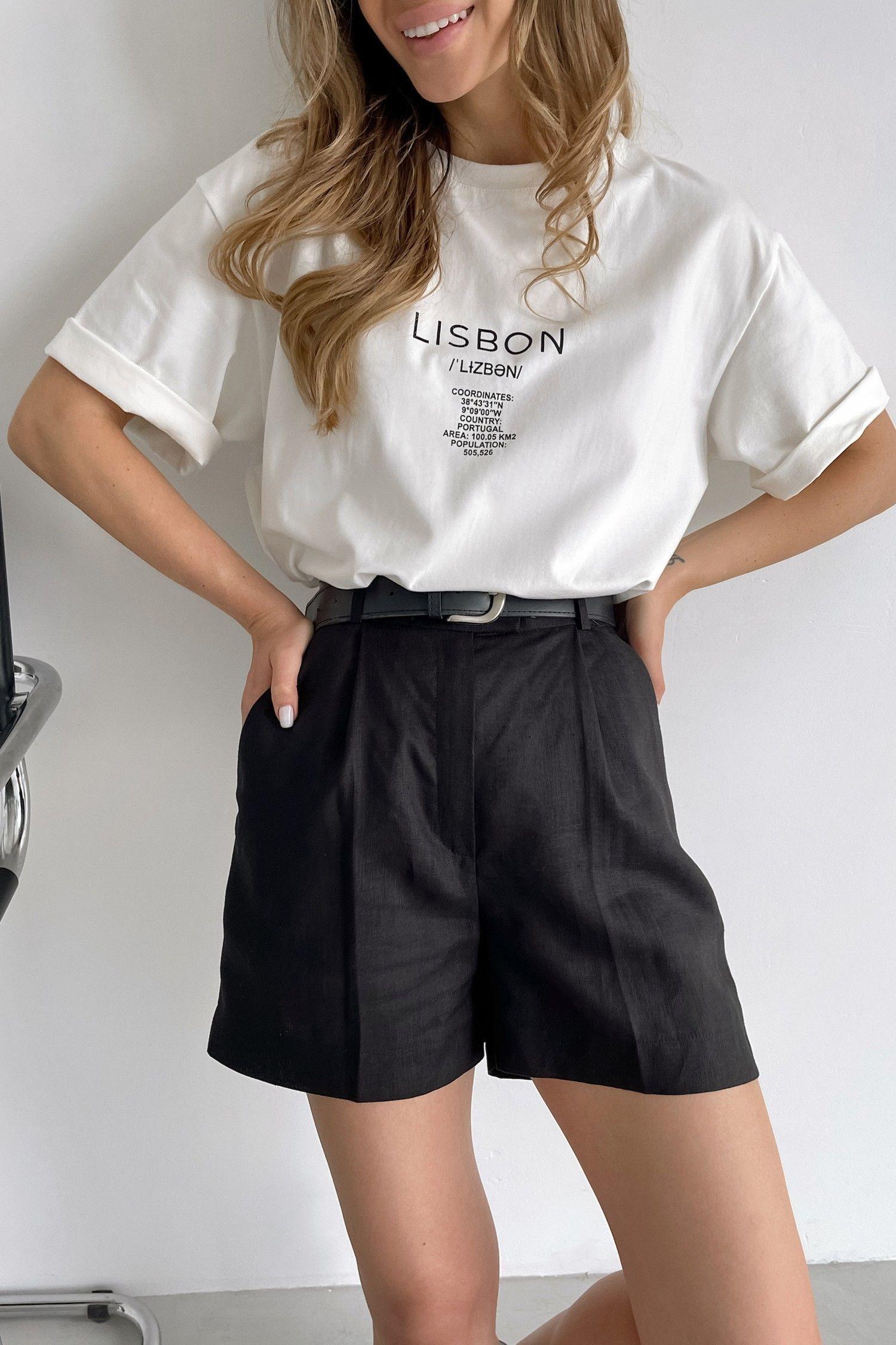 Черные льняные шорты - THE LACE