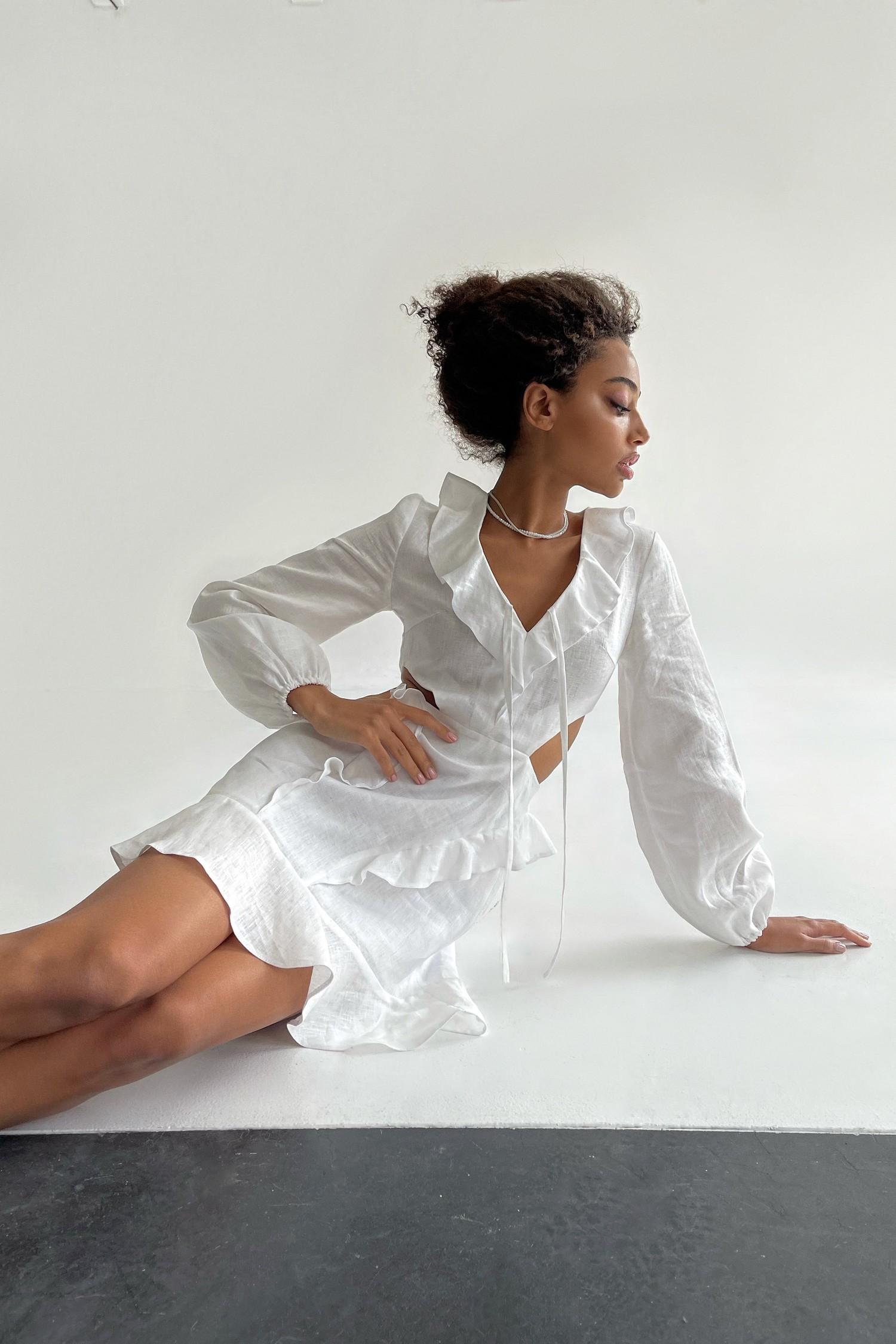 Льняное платье мини - THE LACE