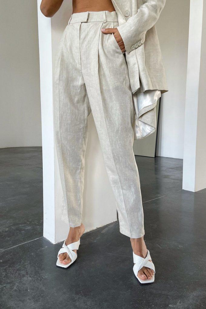 Льняные брюки с защипами - THE LACE