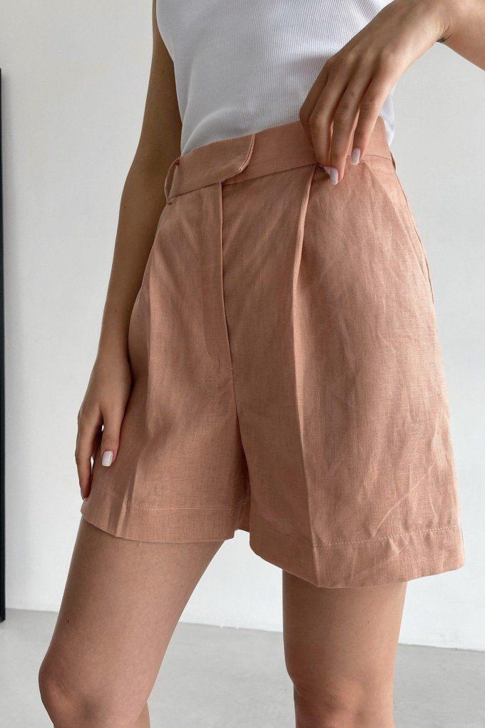 Пудровые льняные шорты - THE LACE