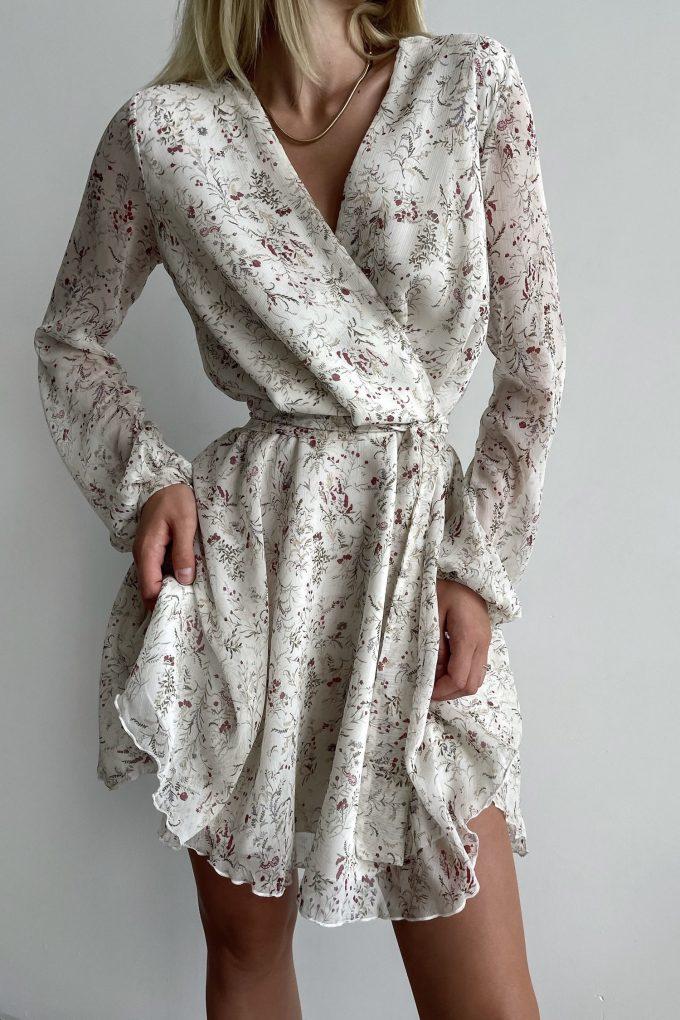 Платье мини цвета айвори Summer bloom - THE LACE