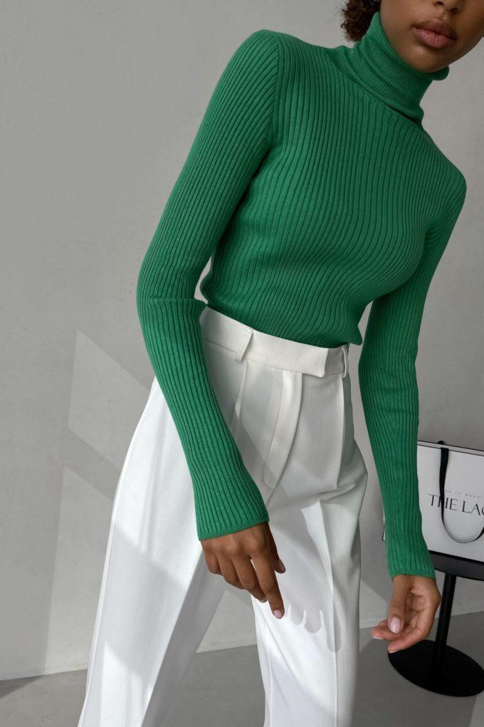 Водолазка тонкая зеленая - THE LACE