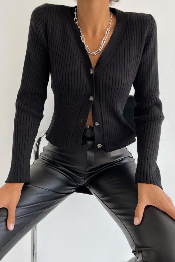 Кардиган укороченный черный - THE LACE