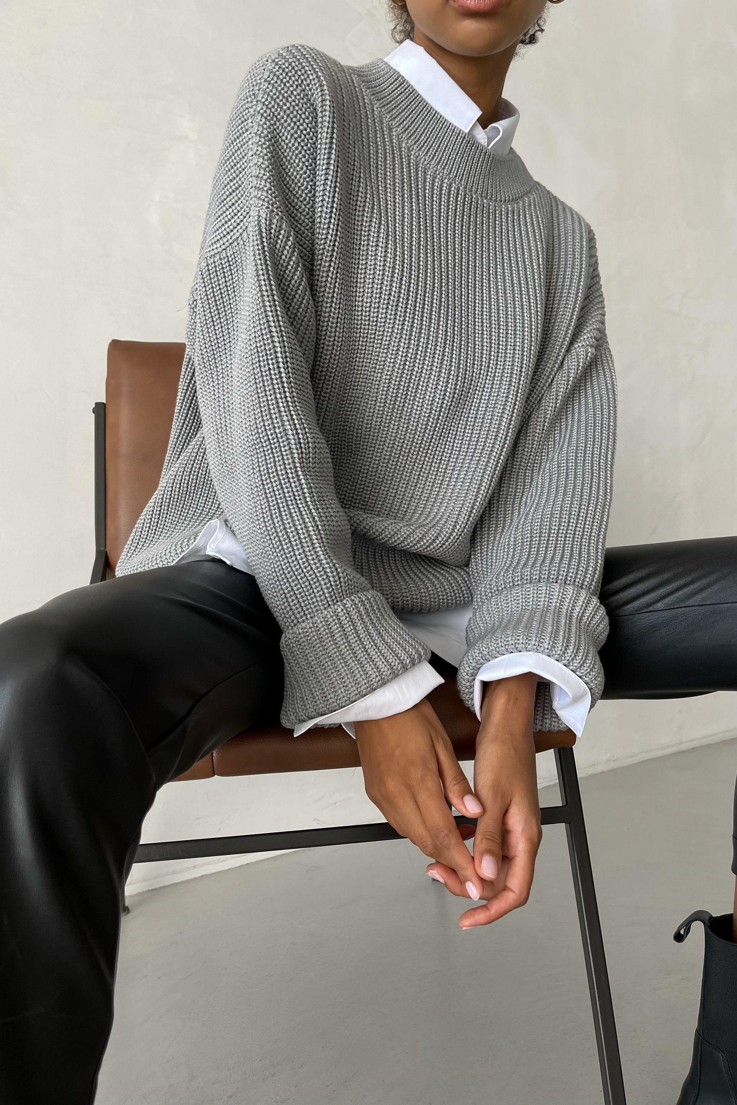 Свитер оверсайз серый - THE LACE