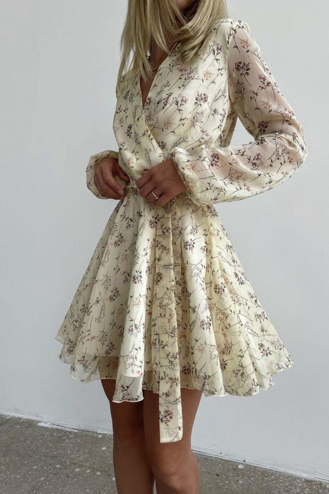 Платье мини желтое Summer bloom - THE LACE