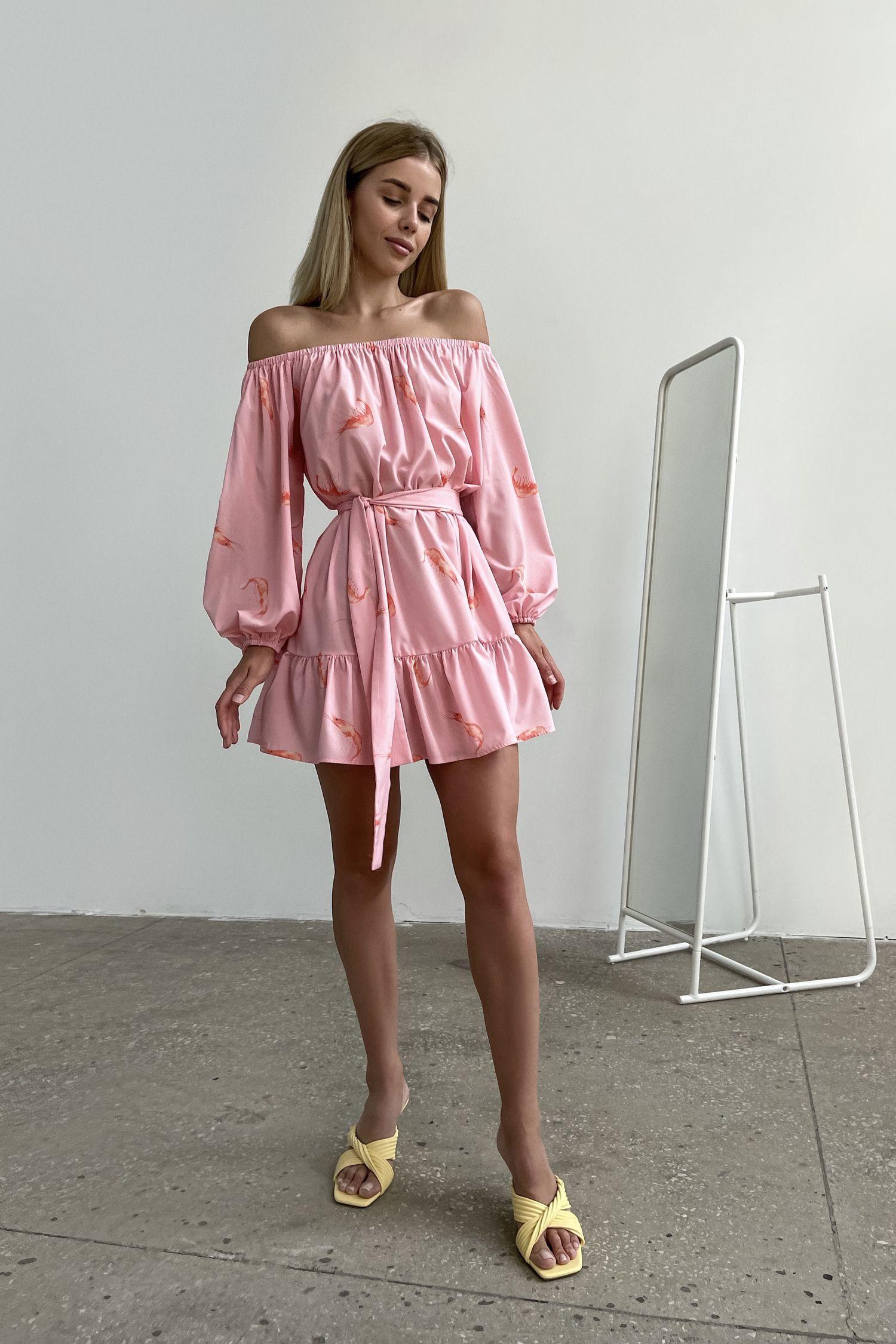 Платье мини розовое Sea shrimp - THE LACE