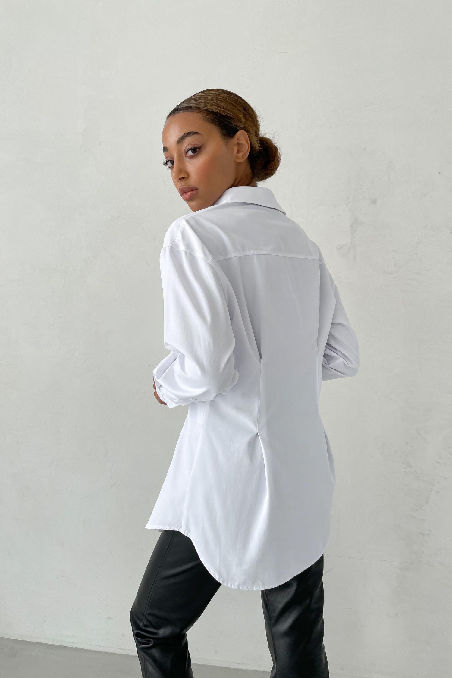 Рубашка белая с защипами - THE LACE