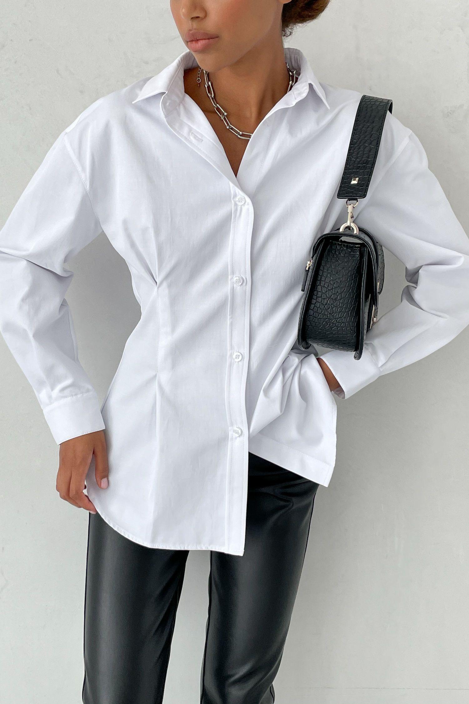 Сорочка із защипами біла