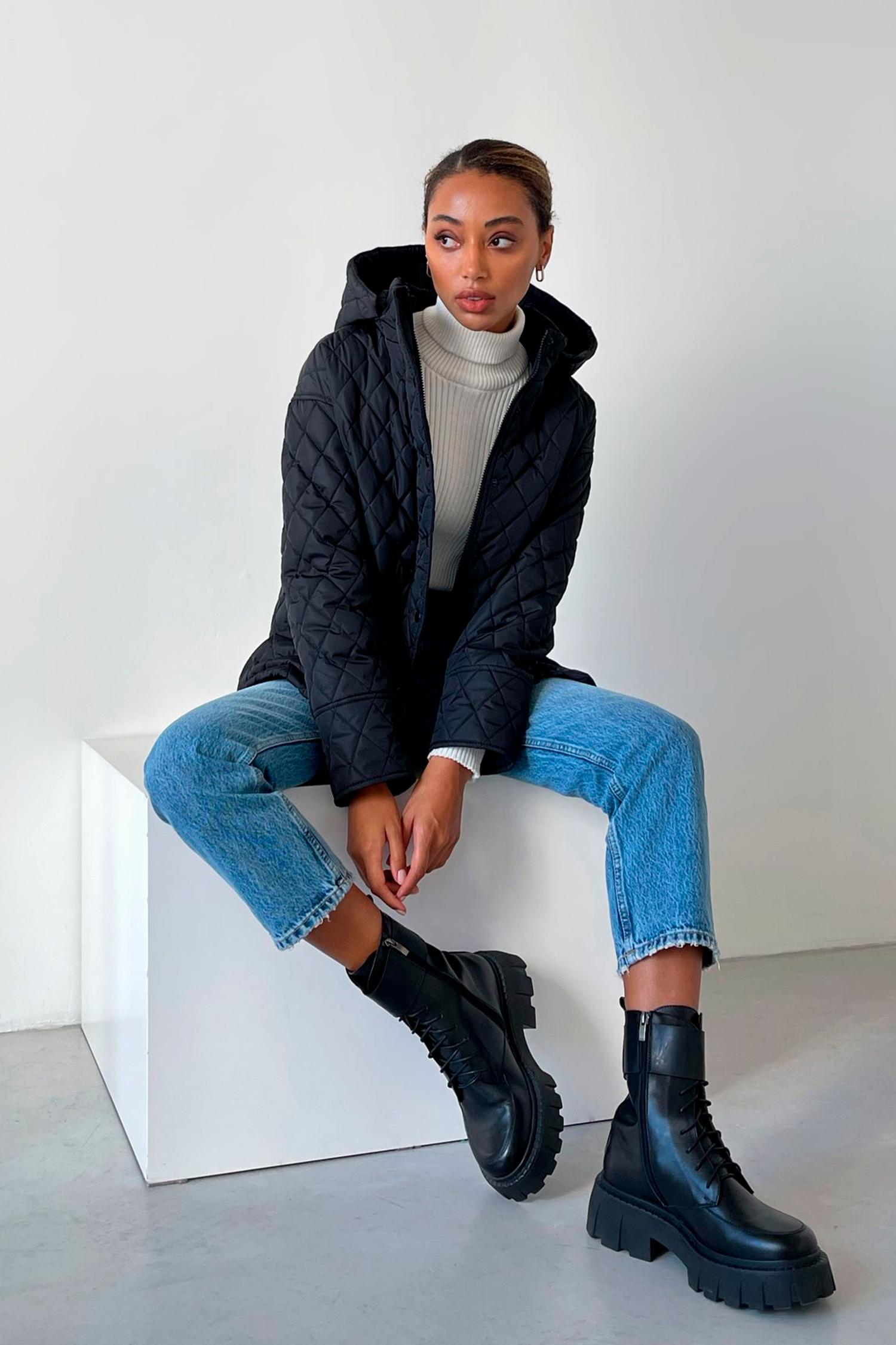 Куртка стеганая черная - THE LACE