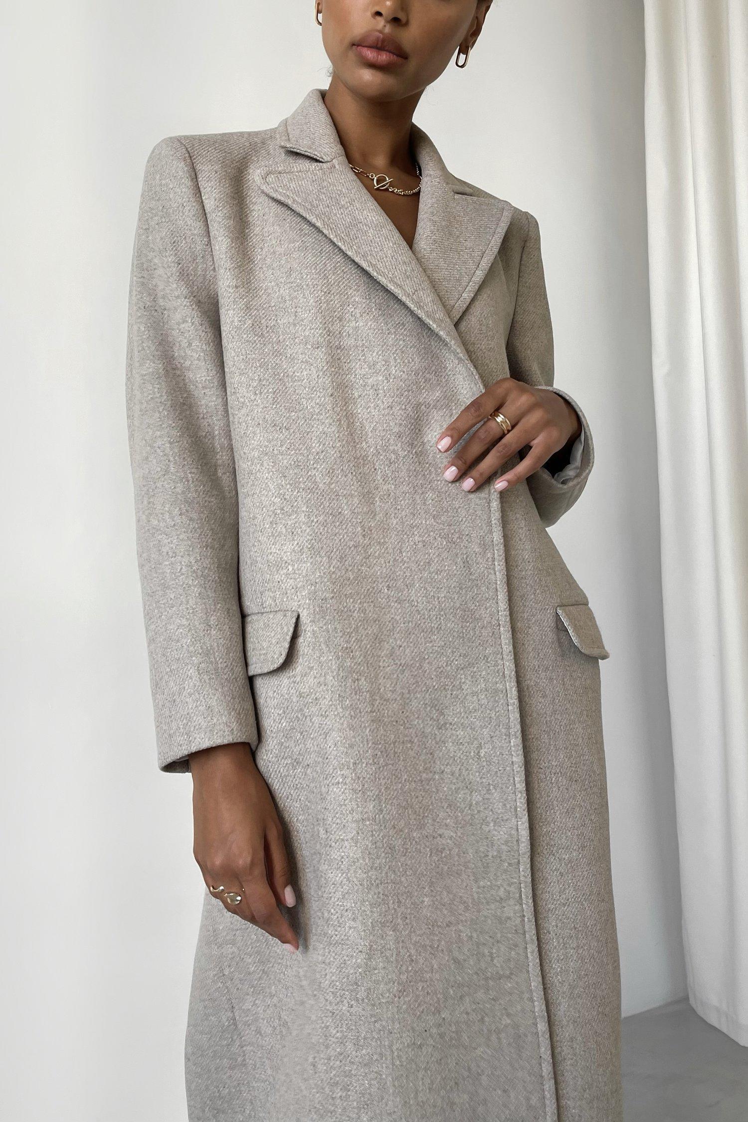 Пальто шерстяное оверсайз молочное - THE LACE