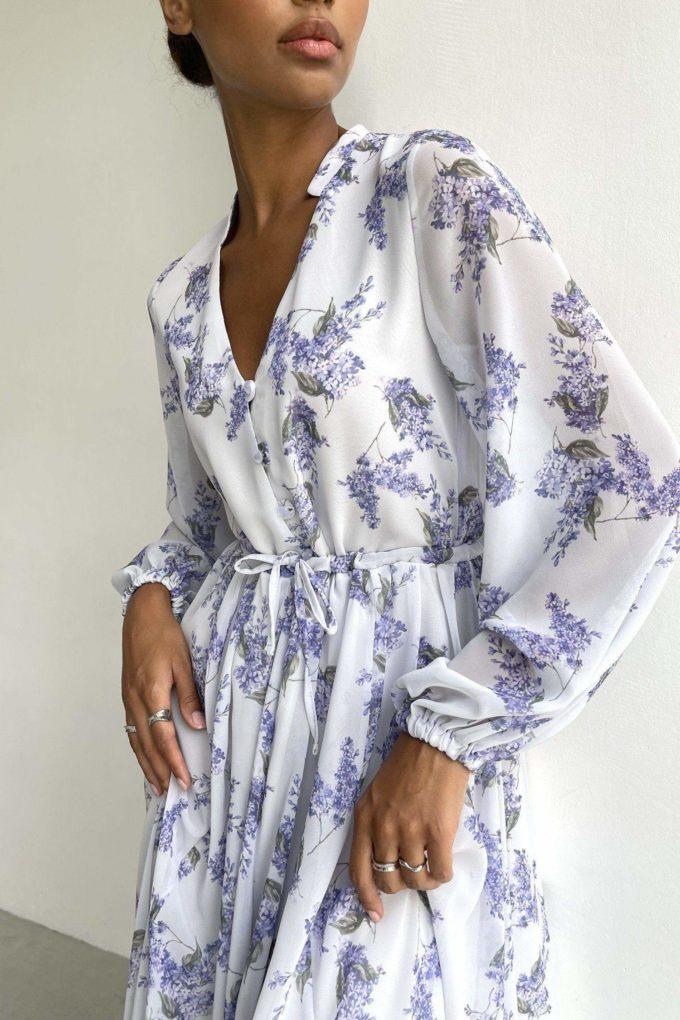 Платье миди фиолетовое Lilac blooms - THE LACE