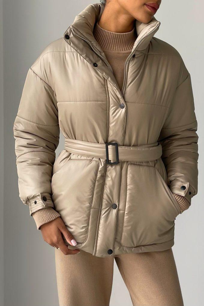 Куртка с поясом цвета кемел - THE LACE